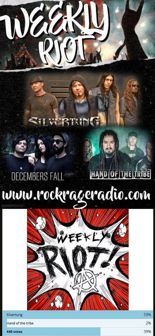 Silvertung wins Rock Rage Radio Weekly Riot 3 weeks in a row!