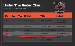 """You & Me"" moves to #34 on Under The Radar Radio Chart"