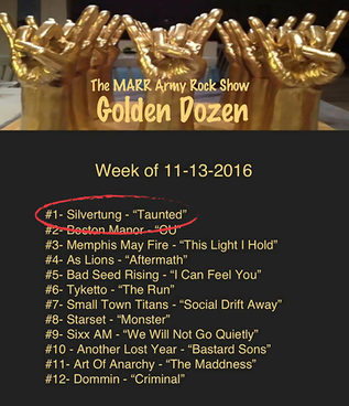 Taunted #1 on MARR Rock Radio Show!