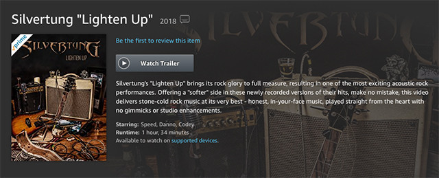 Silvertung Lighten Up DVD on Amazon.com
