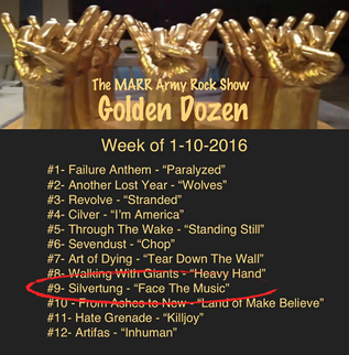 The MARR Army Rock Show Golden Dozen for the week of 1-10-16. Posted by MARR Army Rock Show