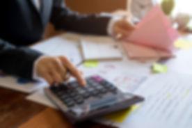 Bookkeeper or financial inspector hands