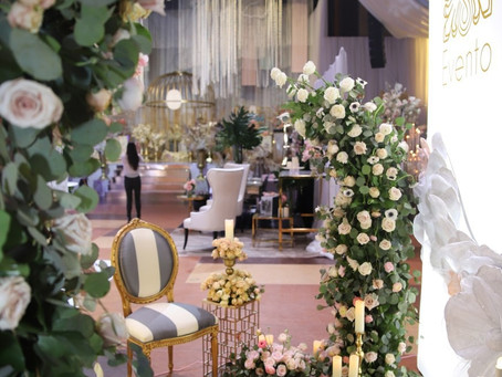 Our booth at WedLuxe attracted a lot of traffic.