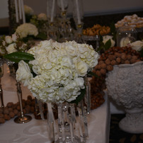 Crystal Dish display for flowers