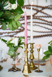 Brass Candel holders.