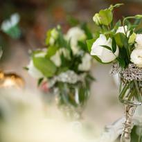 White an green arrangements