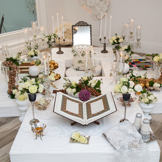 Sofreh Aghd meaning persian wedding cermony spread, usually is cutome made and can come in all different sizes and colours and can be as traditional or modern as our clients want.