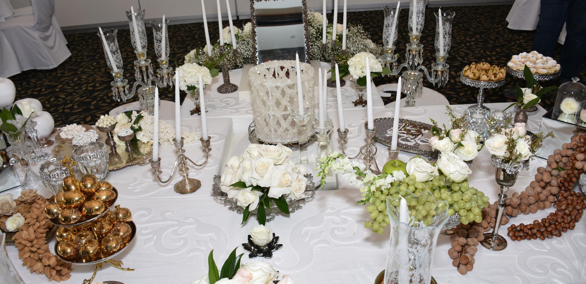 Romantic White and Silver setup