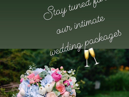 Stay tuned for outdoor wedding Packages for your small ceremonies