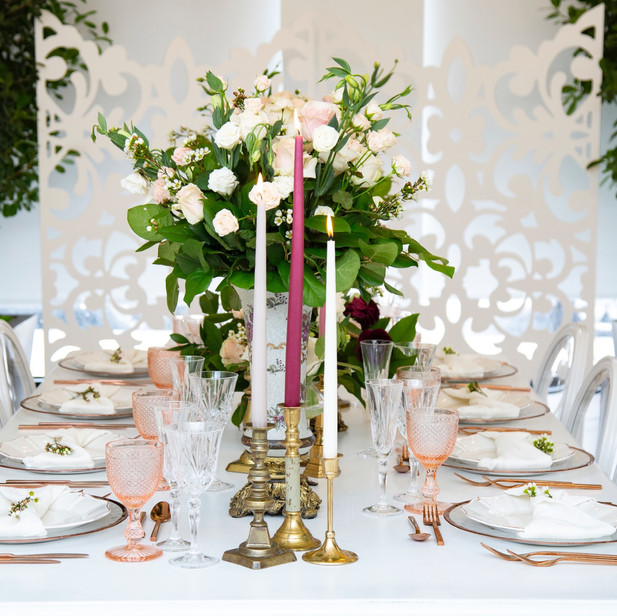 Laser cut panels can add a texture to any kind of event decoration.