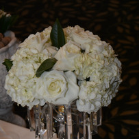 White Roses centerpiece for Sofreh Aghd