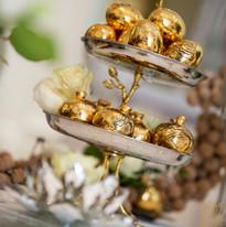 Gold eggs and pomogranite
