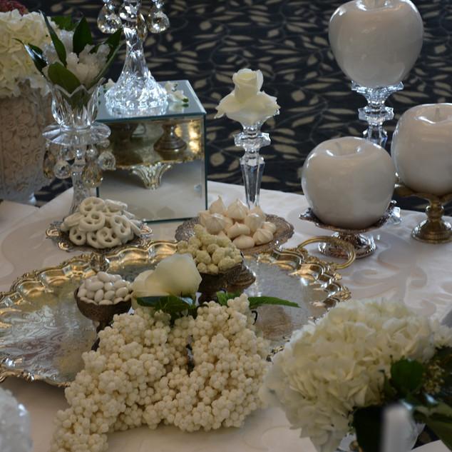 Seven white setup for Iraqi Wedding