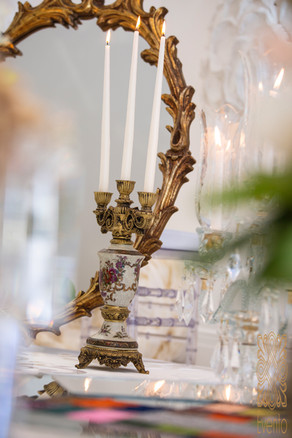 Mirror and Candelabra, the most significant and iconic part of the Sofreh Aghd. Read our blog for more.