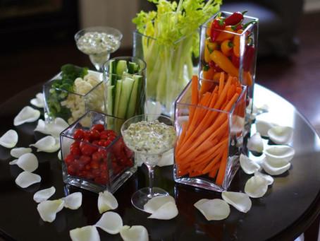 Veg Platters   simple and elegant