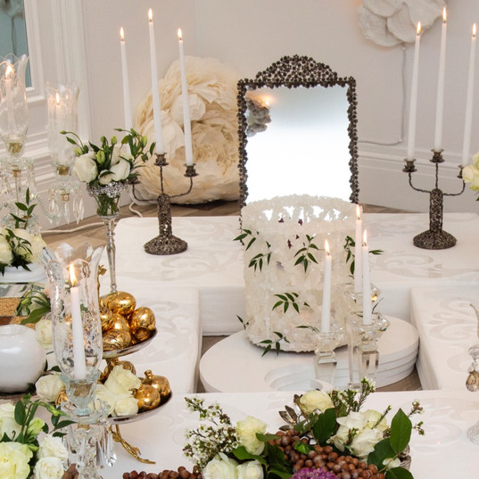Silver mirror_candle stick_sofreh Aghd_e