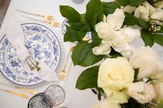 Nothing like white flowers say wedding.
