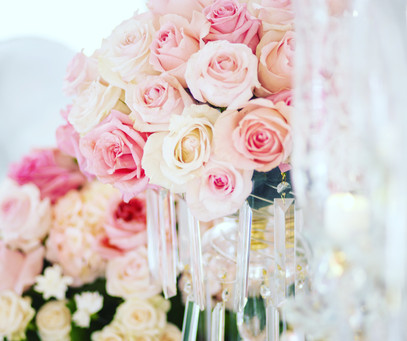 Light pink roses Centerpiece