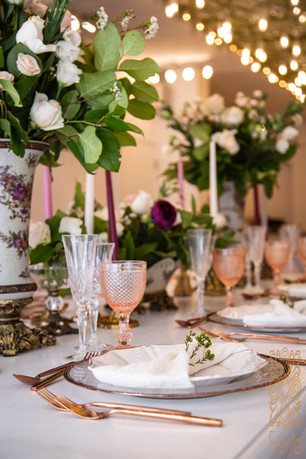 Styling a venue ceiling with lights gives a venue a dreamy ambience.