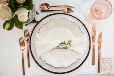 Rose Gold Charger and cutlery