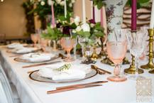 Rose Gold Tabletop Design.