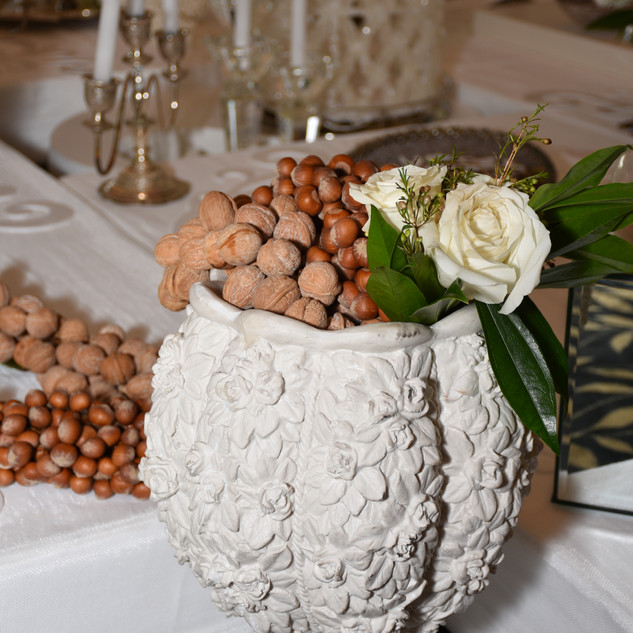 White vase for Sofreh Aghd displays