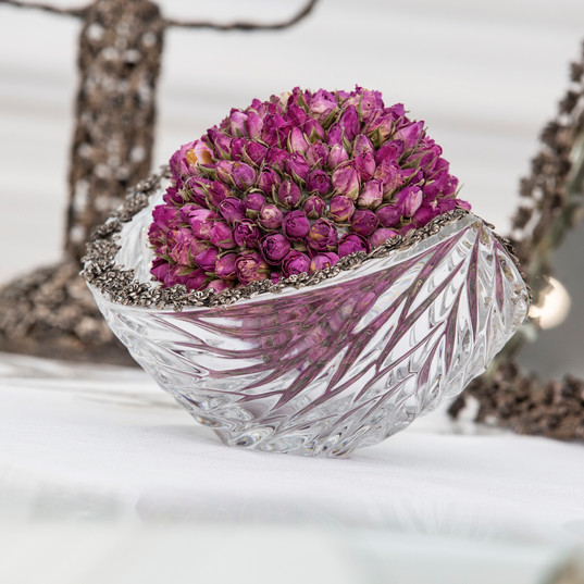 Dried Roses - Silver arrangements