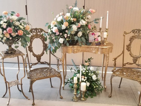 Rustic Gold centerpeices