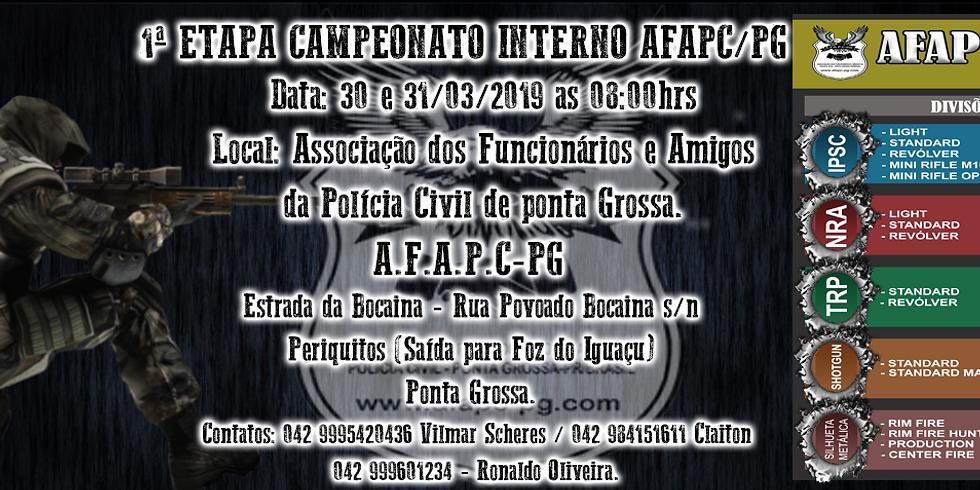 1ª Etapa Campeonato Interno AFAPC-PG