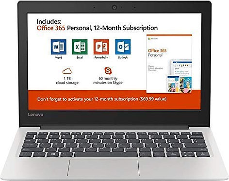 "Lenovo 130S 11.6"" HD Laptop Intel Celeron N4000 4GB RAM 64GB SSD"