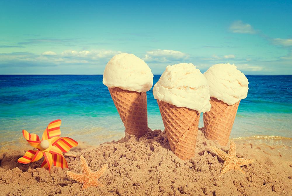 sorvete praia afogamento