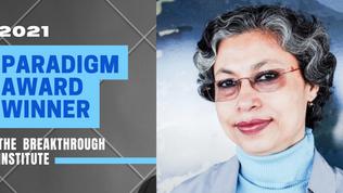 Bangabandhu Chair Professor Joyashree Roy: Winner of 2021 Breakthrough Paradigm Award
