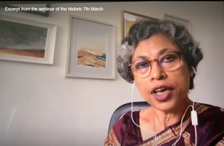 Excerpt from the webinar in commemoration of the historic 7th March - Embassy of Bangladesh