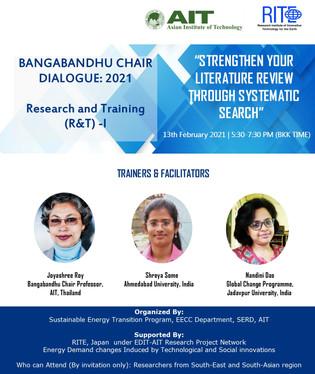 SE Program, AIT conducted Bangabandhu Chair Dialogue 2021: 'Research & Training-I'