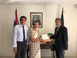 With Bangladesh Ambassador, H.E. Mohammed Abdul Hye | 2021
