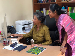 With Prof. Susmita Ghosh, Jadavpur University, Kolkata, India