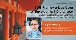 """NERPS Webinar Series on """"SDG framework as core of development diplomacy"""""""