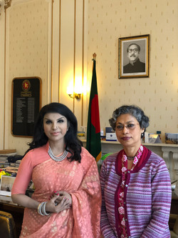 With H.E. Saida Muna Tasneem, at High Commission of Bangladesh, London