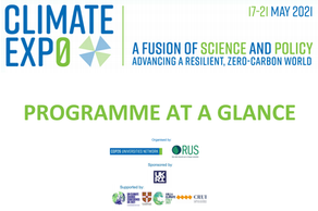 CLIMATE EXP0 – THE COP26 UNIVERSITIES NETWORK VIRTUAL CONFERENCE, 17-21 MAY 2021