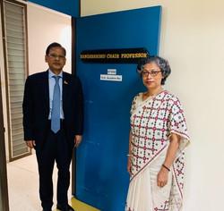 With Bangladesh Ambassador, H.E. Md. Nazmul Quaunine