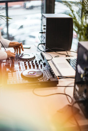 DJ for the sunset party
