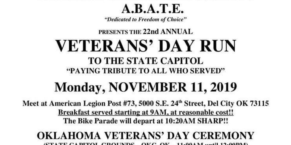 Veterans Day Ride