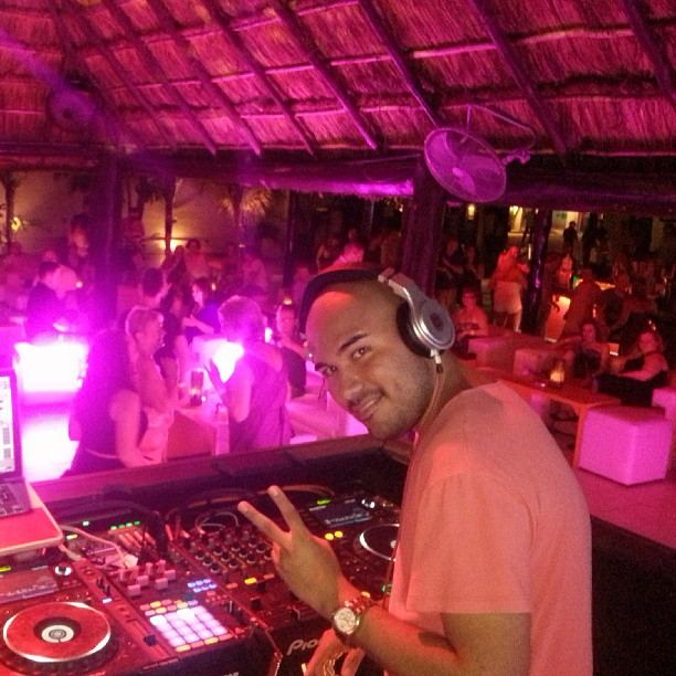 My DJ Booth at Coco Maya