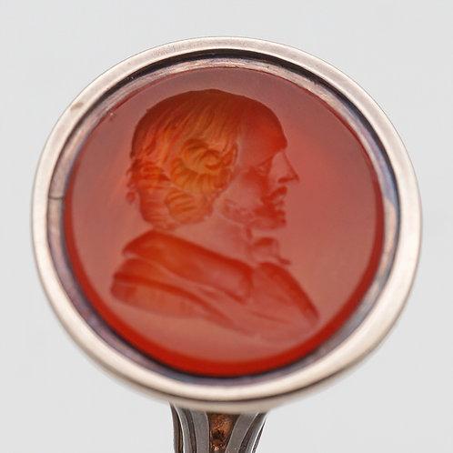 George III gold mounted fob seal