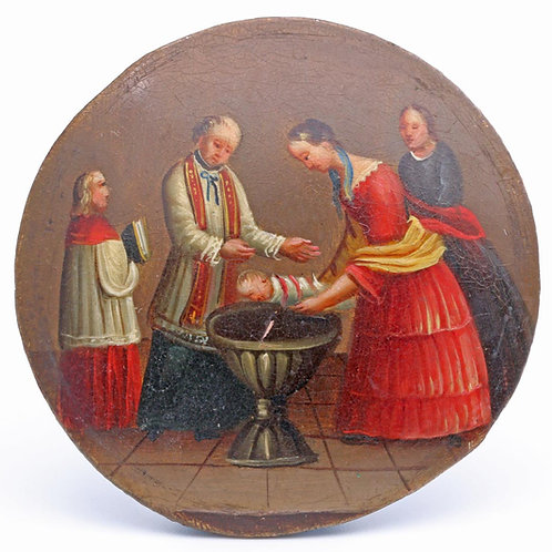 Continental school miniature
