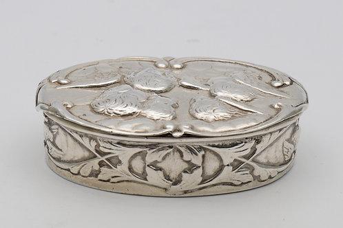Edwardian oval silver box