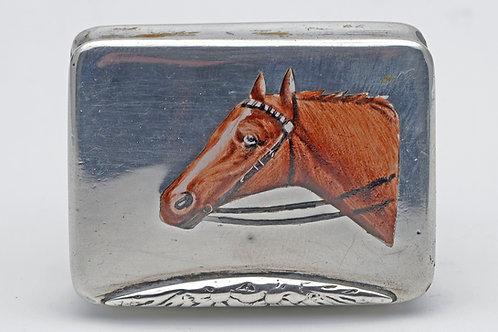 Silver and enamel vesta c.1900