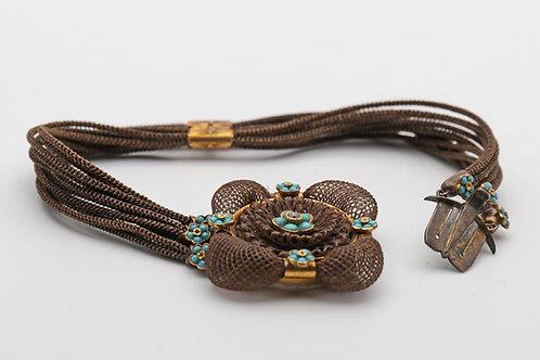Victorian hairwork bracelet