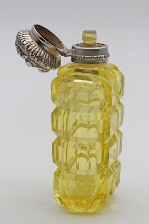 Victorian 'uranium' glass scent bottle