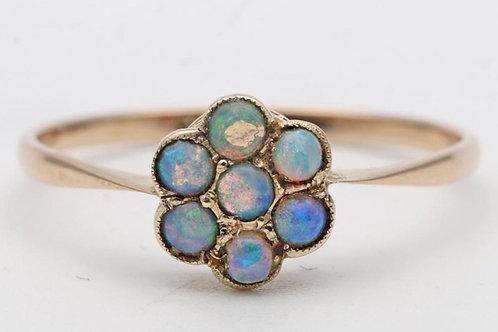Vintage opal cluster ring